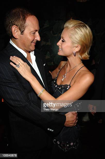 John Demsey and Paris Hilton during Olympus Fashion Week Spring 2006 Rosa Cha After Party Hosted by MAC at Maritime Hotel in New York City New York...