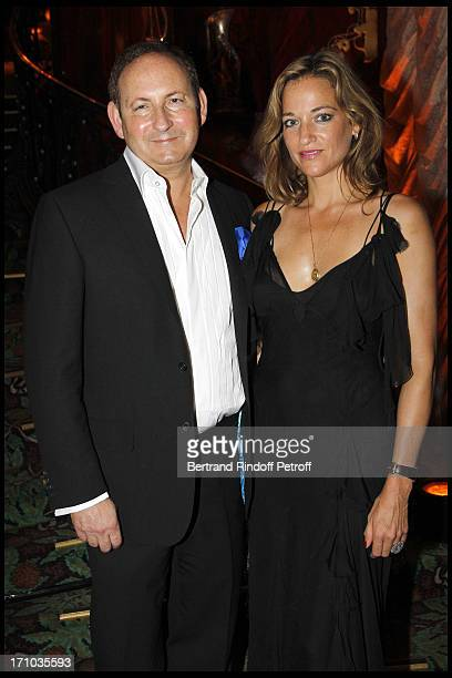 "John Demsey and Pascale Bourbeau at ""The Inspiration Party"" In Benefit Of Amfar At Maxim's In Paris ."