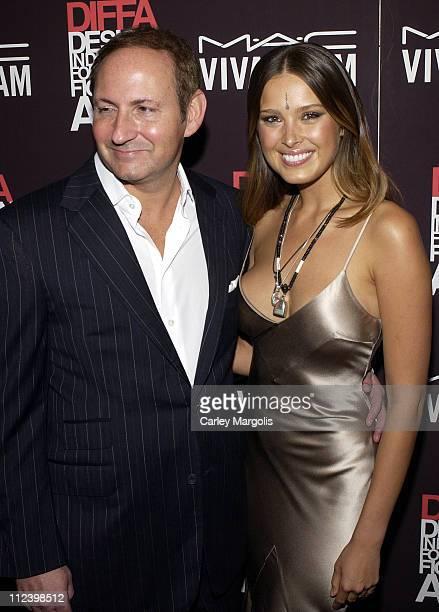 John Demsey CEO of MAC Cosmetics and Petra Nemcova