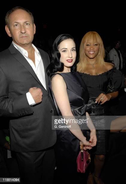 John Demsey Chairman of the MAC AIDS Foundation Dita Von Teese and Eve MAC spokespersons