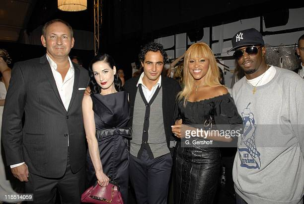 John Demsey Chairman of the MAC AIDS Foundation Dita Von Teese Zac Posen Eve and Sean Diddy Combs