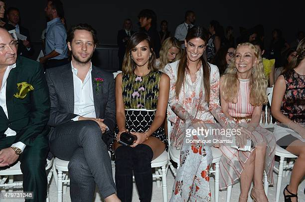 John Demsey Derek Blasberg Jessica Alba and Bianca Brandolini d'Adda attend the Giambattista Valli show as part of Paris Fashion Week Haute Couture...