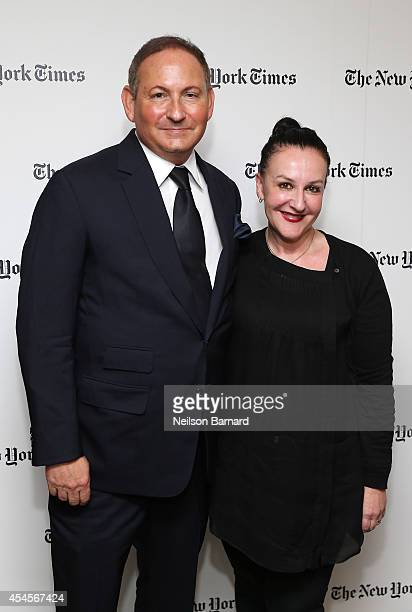 John Demsey of MAC Cosmetics and Sophie Theallet attend the New York Times Vanessa Friedman and Alexandra Jacobs welcome party on September 3 2014 in...