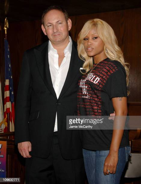 John Demsey President of MAC Cosmetics and Eve during MAC Viva Glam Spokesperson Eve Visits The Boys Girls Republic Henry Street Settlement To Help...