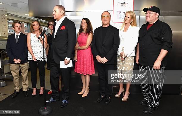 John Demsey speaks onstage with Cooper Endicott Melissa Rivers Nancy Mahon Karen Pearl Michael Kors Blaine Trump and Chuck Piekarski during the...