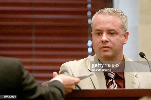 John Dennis Bradley is crossexamined in the trial of Casey Anthony at the Orange County Courthouse on Thursday June 9 in Orlando Florida Bradley a...