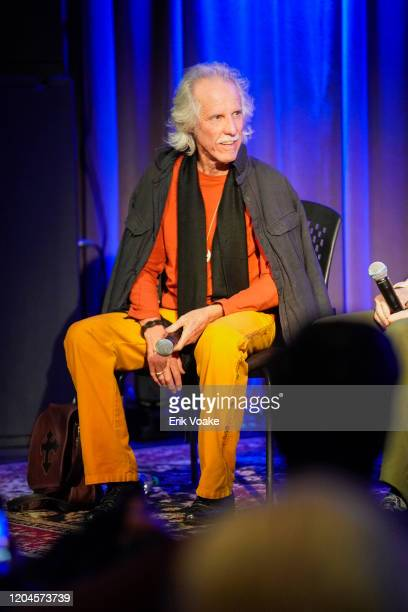 John Densmore of The Doors during a Q and A at The GRAMMY Museum on February 06 2020 in Los Angeles California
