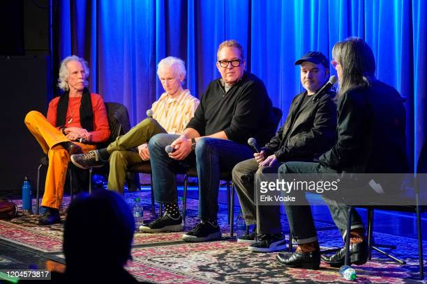 John Densmore Robby Krieger Jeff Jampol and Justin Kreutzmann at The GRAMMY Museum on February 06 2020 in Los Angeles California