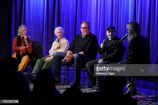 John Densmore Robby Krieger Jeff Jampol and Justin Kreutzmann speak with Scott Goldman at Reel To Reel The Doors Break On Thru – A Celebration Of Ray...