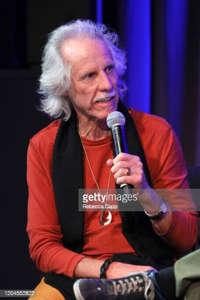 John Densmore speaks onstage at Reel To Reel The Doors Break On Thru – A Celebration Of Ray Manzarek at the GRAMMY Museum on February 06 2020 in Los...