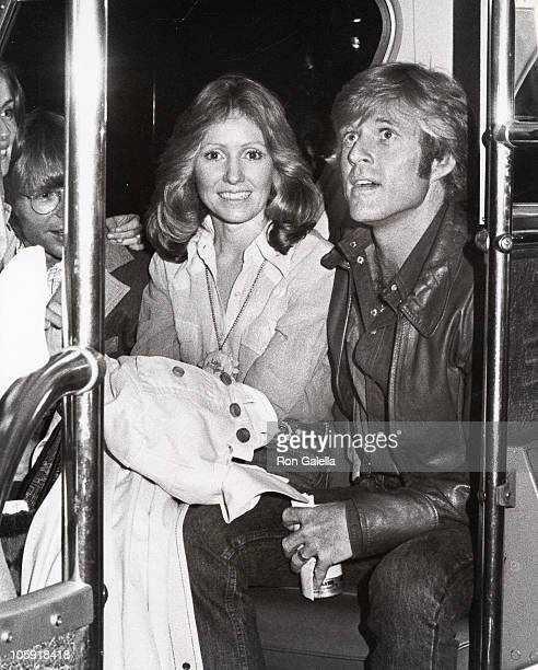 John Denver Lola Redford and Robert Redford during The Great Waldo Pepper Premiere March 12 1975 at Rivoli Theater in New York City New York United...