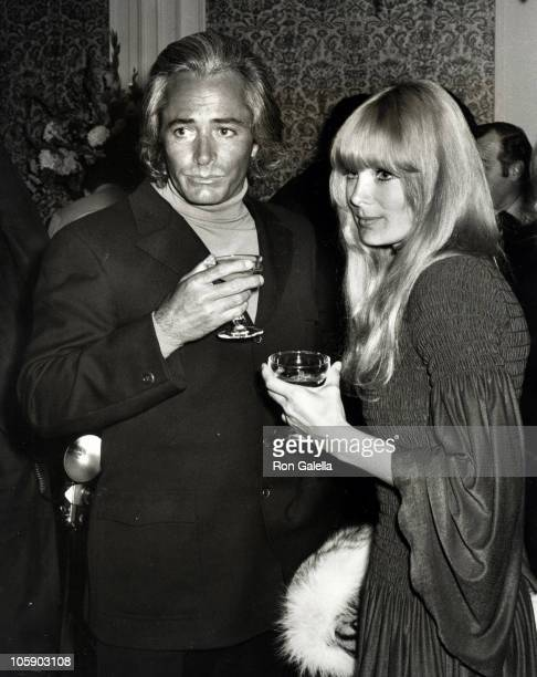 John Derek and Linda Evans during Sonny and Cher Opening at Century Plaza - April 4, 1970 at Century Plaza in Los Angeles, California, United States.
