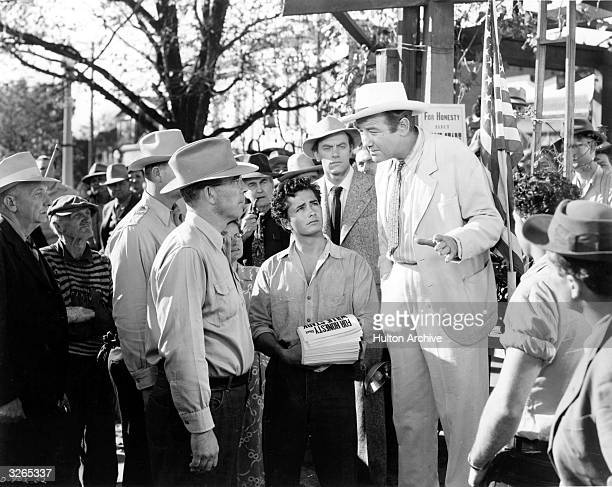 John Derek, Broderick Crawford and Ralph Dunke star in the political drama 'All The King's Men', based on the life of Louisiana governor Huey Long....