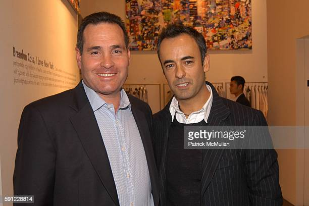 John DeStefano and Francisco Costa attend Madison Avenue Where Fashion Meets Art Presents Brendan Cass I Love New York at Calvin Klein Collection on...