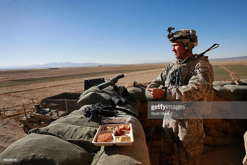 U.S. Army Soldiers Celebrate Thanksgiving in Afghanistan : News Photo