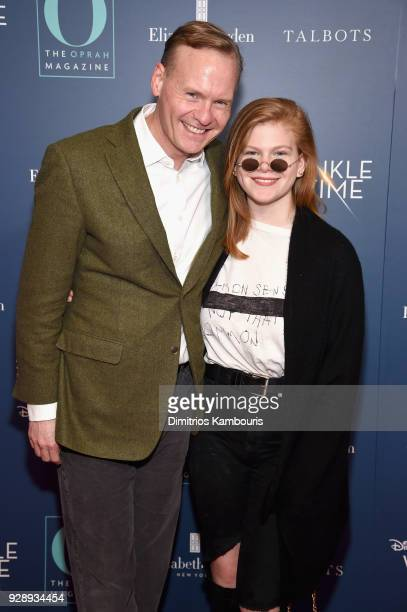 John Dickerson and daughter attend as O The Oprah Magazine hosts special NYC screening of 'A Wrinkle In Time' at Walter Reade Theater at Walter Reade...
