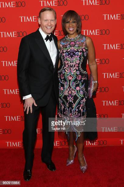 John Dickerson and Gayle King attend the 2018 Time 100 Gala at Frederick P Rose Hall Jazz at Lincoln Center on April 24 2018 in New York City
