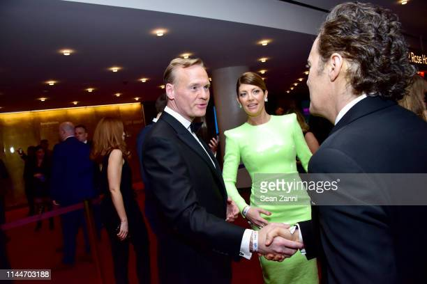 John Dickerson and Norah O'Donnell attend the Time 100 Gala 2019 at Jazz at Lincoln Center on April 23 2019 in New York City