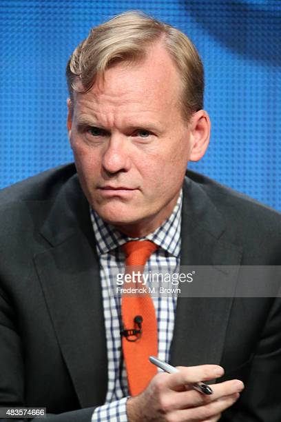 John Dickerson Political Director for CBS News speaks onstage during the 'CBS News' panel discussion at the CBS portion of the 2015 Summer TCA Tour...
