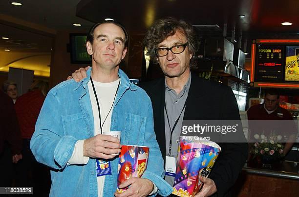"""John Diehl and Wim Wenders, director during Palm Springs International Film Festival - """"Land of Plenty"""" Screening at Regal Cinemas in Palm Springs,..."""
