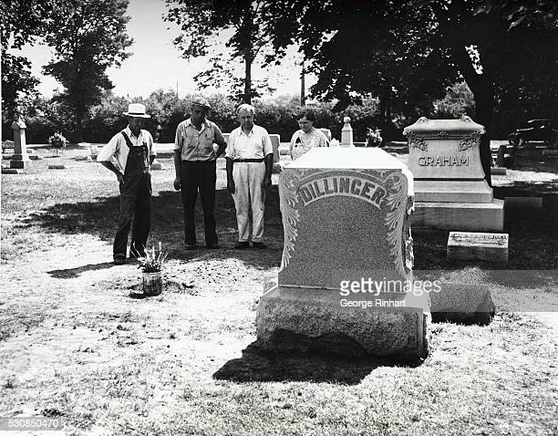 John Dillinger His burial place beside the grave of his mother in the family plot in a small cemetery just outside Indianapolis