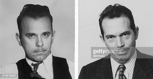 John Dillinger left as he appeared in 1934 and right Warren Oates made up for the 1973 film Dillinger