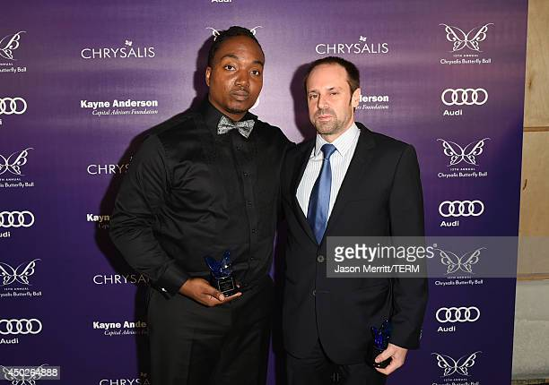 John Dillon Award Recipient Darius Coffey and Honoree Jeff Skoll the 13th Annual Chrysalis Butterfly Ball sponsored by Audi Kayne Anderson and Stella...