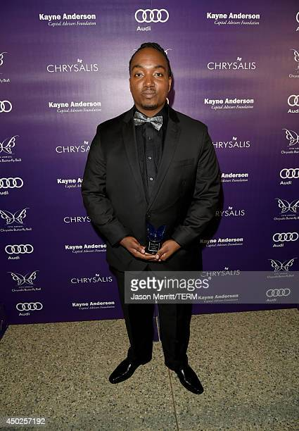 John Dillon Award recipient Darius Coffey inside the 13th Annual Chrysalis Butterfly Ball sponsored by Audi Kayne Anderson and Stella Artois in Los...