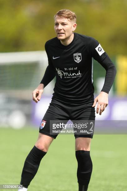 John Disney of Connah's Quay Nomads during the Cymru Welsh Premier League match between Penybont and Connah's Quay Nomads at The SDM Glass Stadium on...