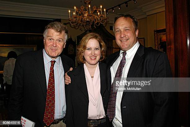John Dizard Liz Barron and Graham Arader attend Book Party for Off The Record by NORMAN PEARLSTINE at Arader Galleries on June 25 2007 in New York...