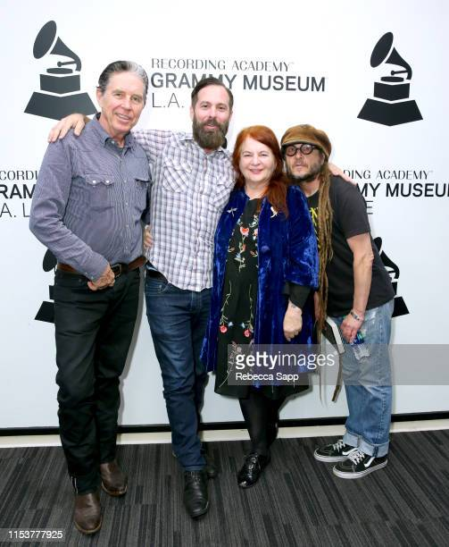 John Doe Tom DeSavia Allison Anders and Keith Morris attend More Fun In The New World With John Doe Tom DeSavia at the GRAMMY Museum on June 04 2019...