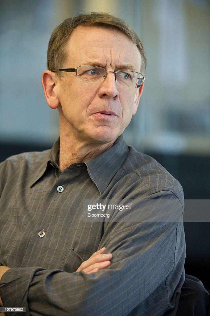 John Doerr, a senior partner with Kleiner Perkins Caufield & Byers, speaks during an interview in San Francisco, California, U.S., on Friday, May 3, 2013. Google Inc. has called on venture capital heavyweight Kleiner Perkins Caufield & Byers to spur creation of software for Google Glass, its wearable mobile-computing devices that resemble spectacles. Photographer: David Paul Morris/Bloomberg via Getty Images