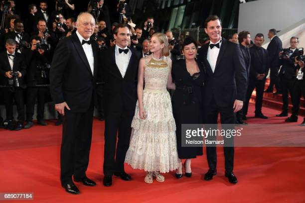 John Doman Joaquin Phoenix Ekaterina Samsonov director Lynne Ramsay and Alex Manette attend the 'You Were Never Really Here' screening during the...