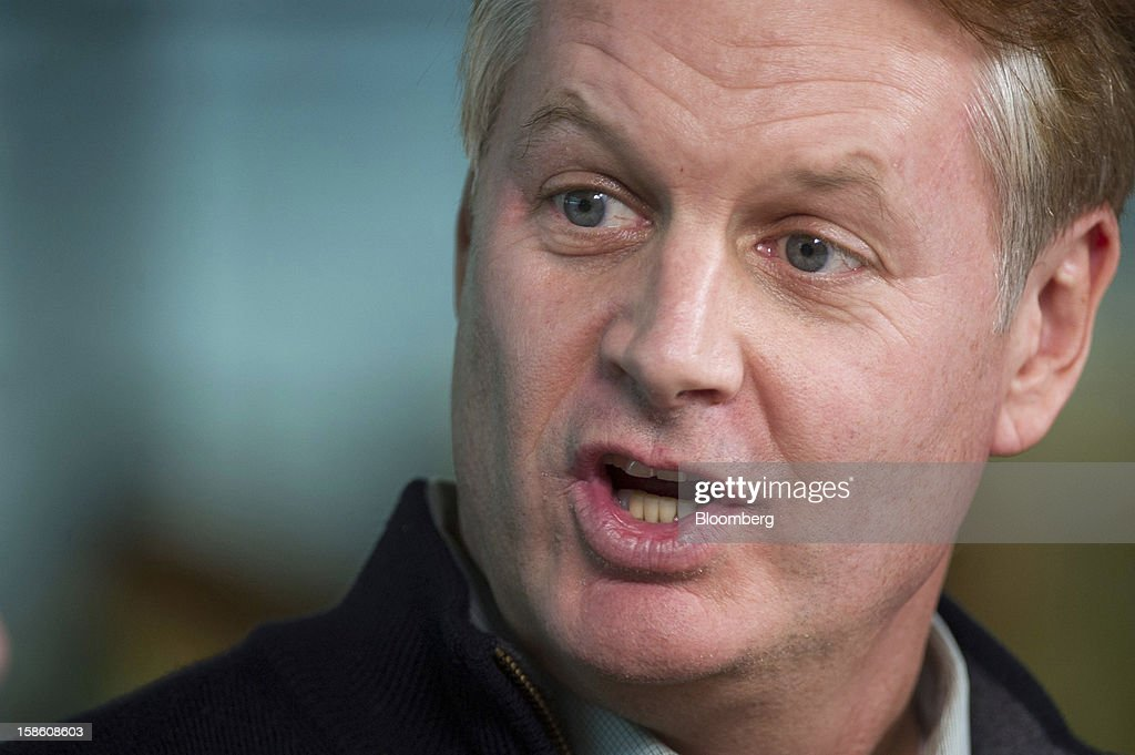 John Donahoe, chief executive officer of EBay Inc., speaks during a Bloomberg Television interview in San Francisco, California, U.S., on Thursday, Dec. 20, 2012. EBay Inc., owner of the world's largest Internet marketplace, is teaming up with Macy's Inc. and Toys 'R' Us Inc. as it goes after revenue from shoppers who are out and about, not just online, during the holidays. Photographer: David Paul Morris/Bloomberg via Getty Images