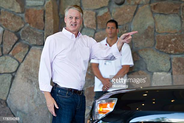 John Donahoe president and chief executive officer of eBay Inc arrives at the Allen Co Media and Technology Conference in Sun Valley Idaho US on...
