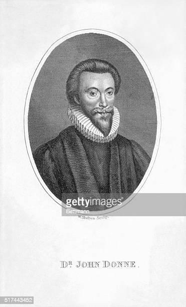 John Donne British Poet Undated engraving
