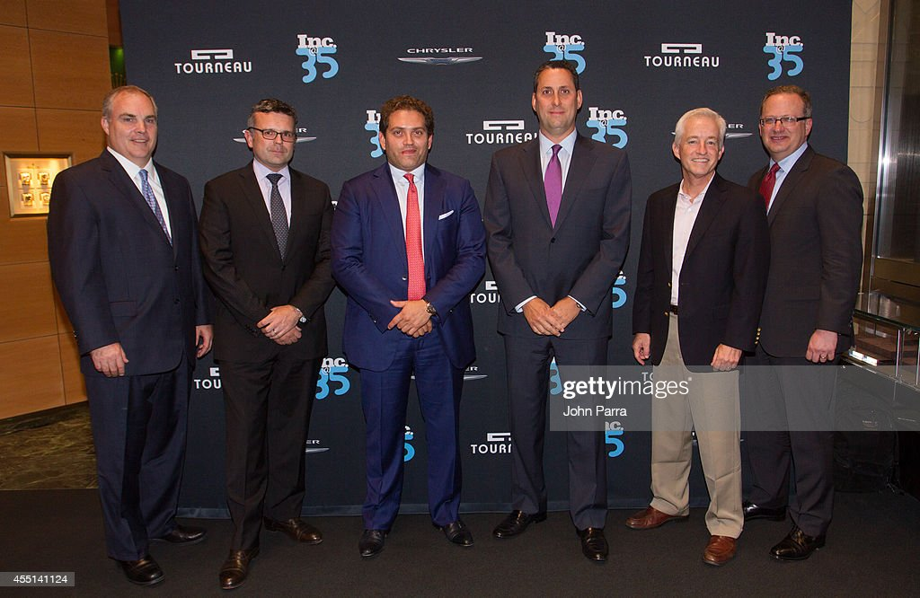 John Donnelly, Tom Byrczek,Ira Melnitsky,Eric Schurenberg and Richard Gellman attend Inc. Magazine 35th Anniversary Party at Tourneau Time Machine on September 9, 2014 in New York City.