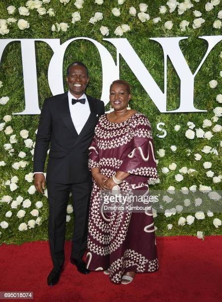 John Douglas Thompson and guest attend the 2017 Tony Awards at Radio City Music Hall on June 11 2017 in New York City