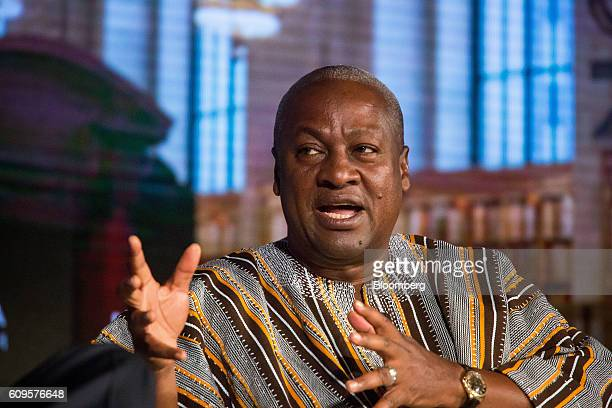 John Dramani Mahama Ghana's president speaks during the USAfrica Business Forum in New York US on Wednesday Sept 21 2016 The forum focuses on trade...