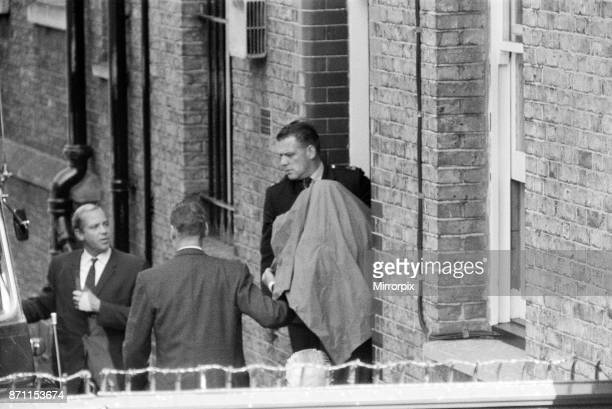 John Duddy leaving West London Magistrates Court where he has been charged with the murder of three policemen 19th August 1966