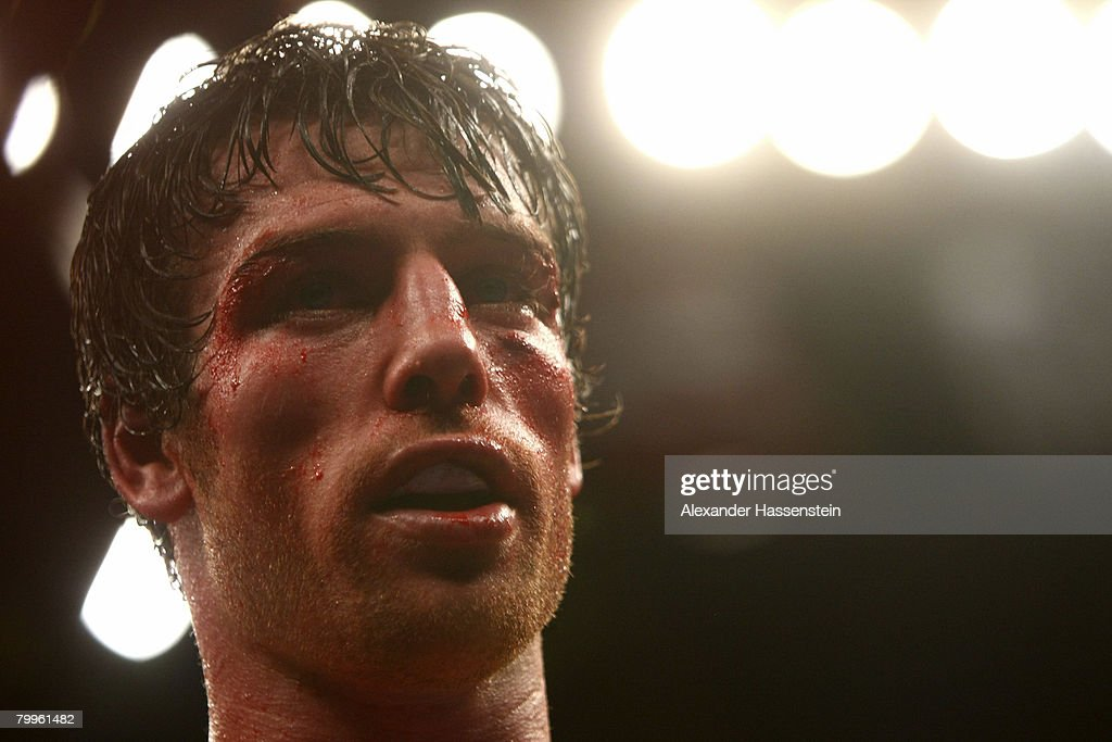 John Duddy of Ireland during his NABO/NABA Championship fight against Walid Smichet of Argentina at Madison Square Garden on February 23, 2008 in New York City.