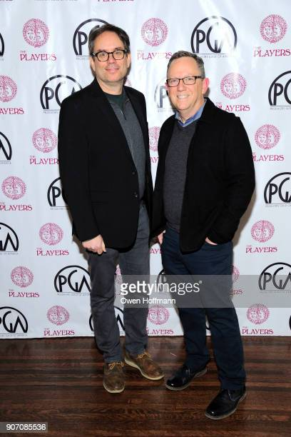 John Duncan and Bruce Andersen attend The Players Hosts East Coast Celebration of the 2018 Producers Guild Nominees at The Players on January 16 2018...