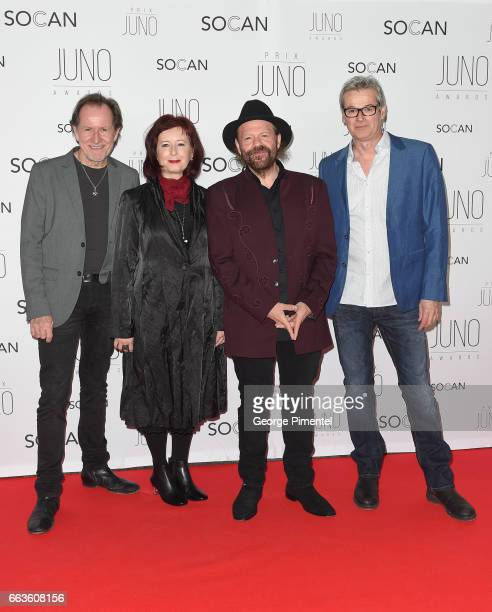 John Dymond, Janice Powers, Colin Linden and Gary Craig attend the 2017 Juno Gala Dinner and Awards at Shaw Centre on April 1, 2017 in Ottawa, Canada.