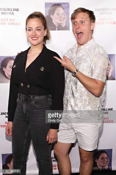 John Early and Jacqueline Novak attend the opening night of Jacqueline Novak Get on Your Knees at Cherry Lane Theatre on July 22 2019 in New York City