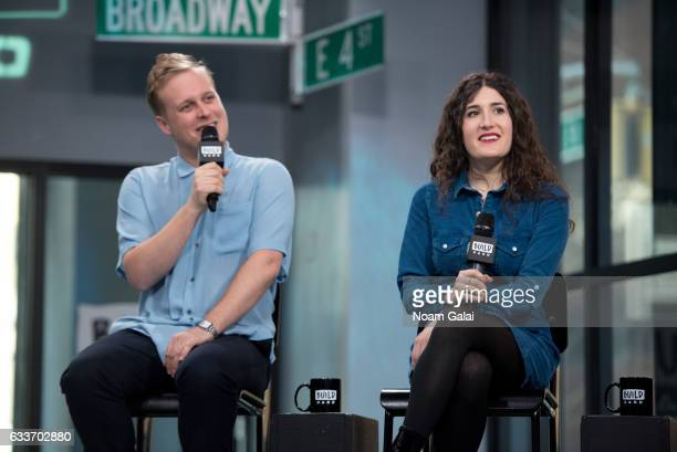 John Early and Kate Berlant attend Build Series to discuss their Vimeo original series '555' at Build Studio on February 3 2017 in New York City