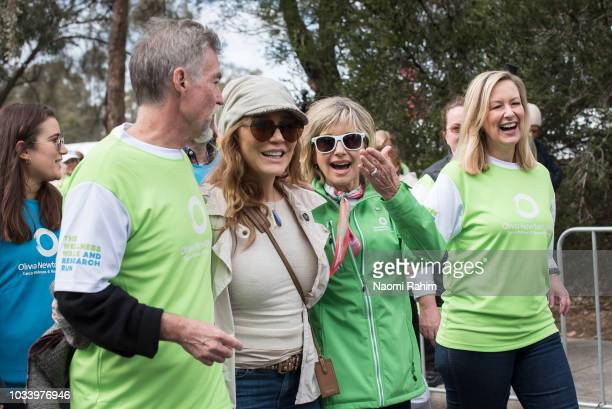 John Easterling Tottie Goldsmith Olivia NewtonJohn and Melissa Doyle during the annual Wellness Walk and Research Runon September 16 2018 in...