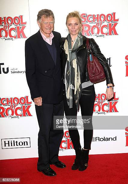 John Edward Aitken Kidd father of Jodie Kidd attend the opening night of 'School Of Rock The Musical' at The New London Theatre Drury Lane on...