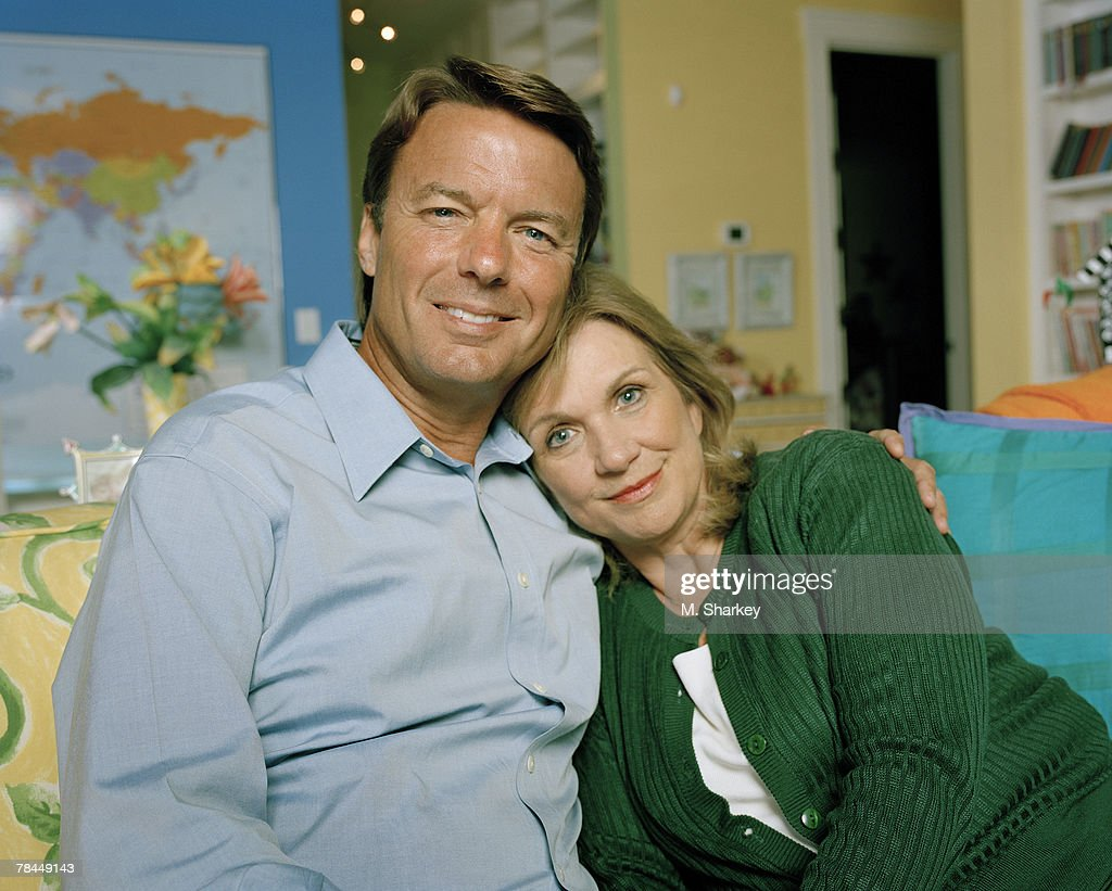 John Edwards and wife Elizabeth Edwards pose for a portrait session at their home in North Carolina.