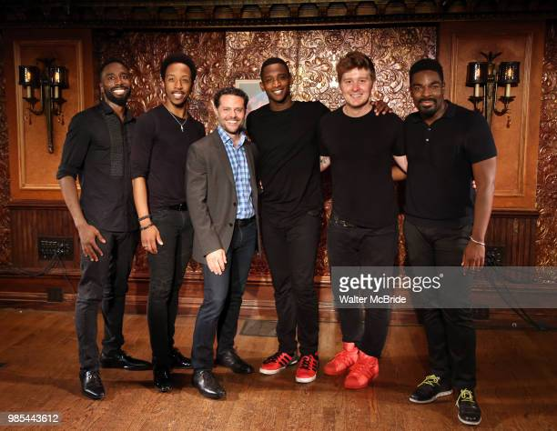 John Edwards Dwayne Cooper Joshusa Bergasse Kyle Taylor Parker Max Sangerman and Jelani Remy attend the photo call for the new production of 'Smokey...
