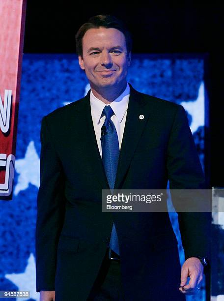 John Edwards former Senator from North Carolina and 2008 Democratic presidential candidate takes the stage for the CNN/Congressional Black Caucus...